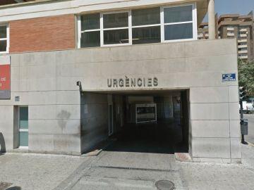Entrada de Urgencias del Hospital Clínico Universitario de Valencia