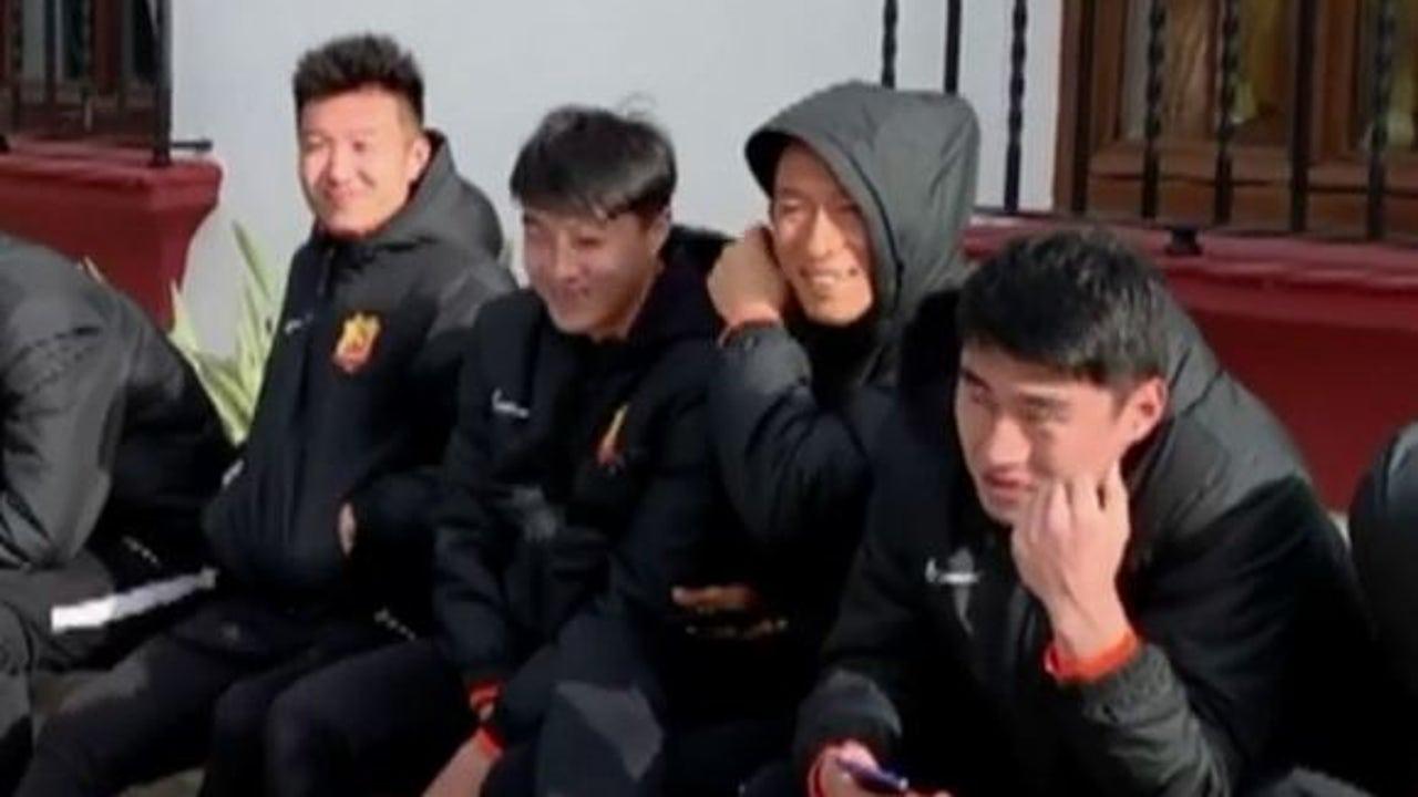 Los jugadores del Wuhan siguen entrenándose en España