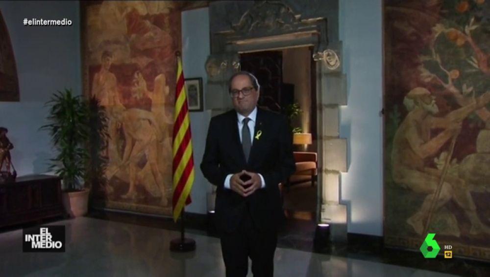 Vídeo Manipulado - Quim Torra se pone serio y da su opinión sobre el sueño de la Juve de tener a Messi y Guardiola