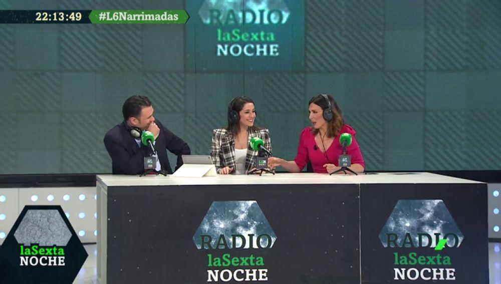 """Arrimadas se convierte en locutora de radio: 'narra' el gol de Iniesta en el Mundial y pone """"un temazo para los amantes del buen rock"""""""
