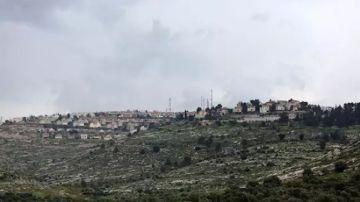 Vista general del asentamiento israelí de Elon Moreh, situado cerca de la ciudad palestina de Nablús, en Cisjordania