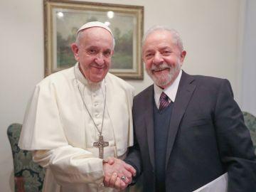 El papa Francisco y Lula