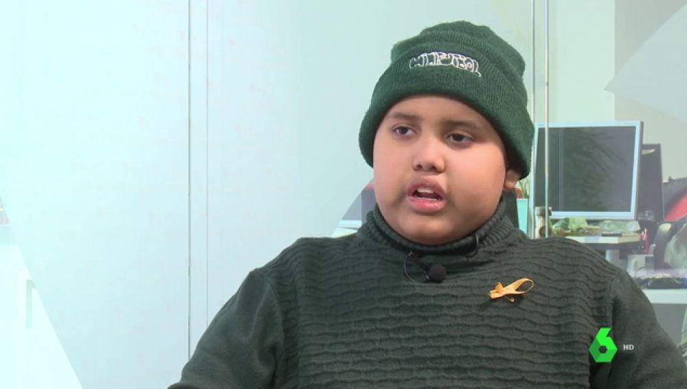 Imagen de Nelson, un niño con leucemia
