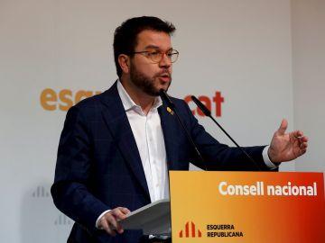 Pere Aragonès en el consell nacional de ERC
