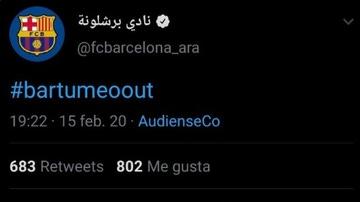 Tweet sobre Bartomeu