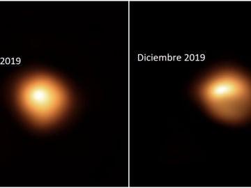 Evolución de la estrella Betelgeuse en un año