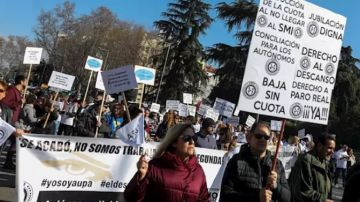 Imagen de la manifestación de autónomos en Madrid