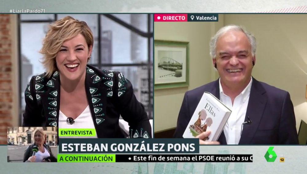 """El divertido momento de Cristina Pardo y González Pons sincerándose sobre el primer amor: """"No me hizo ni caso"""""""