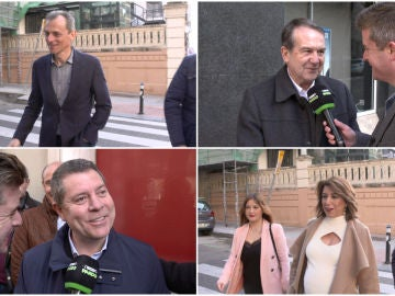 Dirigentes del PSOE reunidos en el comité federal de Ferraz