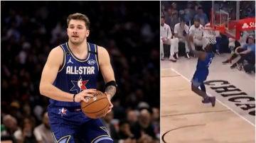 Luka Doncic debuta en un All-Star 'alimentando' a LeBron James