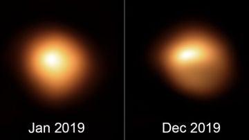 El brillo y la forma de la estrella Betelgeuse estan cambiando
