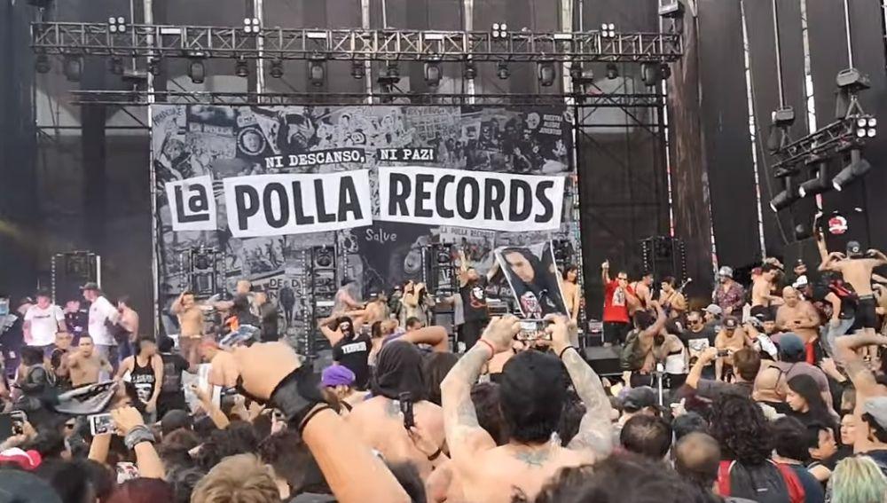 Caos en pleno concierto de La Polla Records en Chile