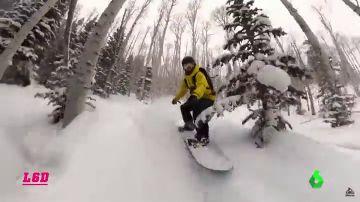 Los gritos de dolor de un snowboarder al partirse la tibia y el peroné