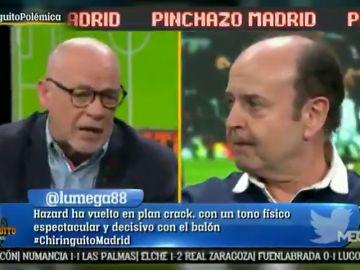 Brutal cara a cara entre Alfredo Duro y Juanma Rodríguez por el Real Madrid en El Chiringuito
