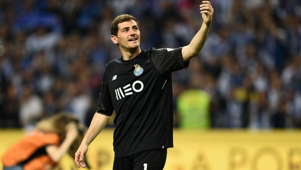 Iker Casillas, en un partido con el Oporto.