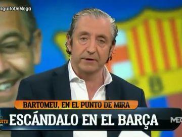 Josep Pedrerol da la solución al último escándalo en el Barcelona en El Chiringuito