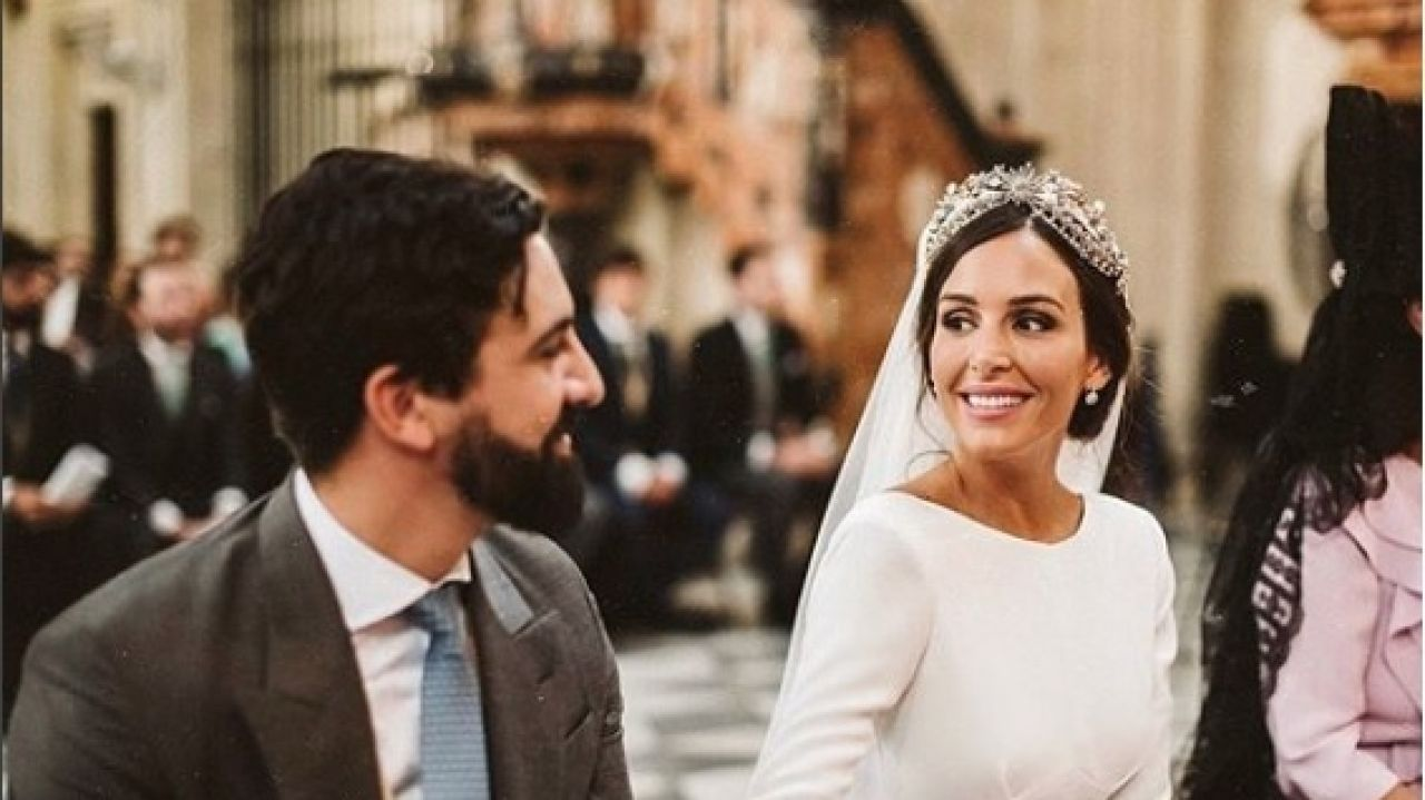La influencer Rocío Osorno, el día de su boda con el senador de Vox Jacobo Robatto