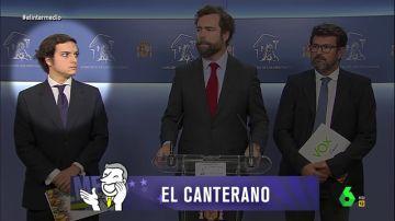 """Los """"palmeros"""": así es """"el cuadro flamenco"""" que roba el protagonismo a todos los políticos en rueda de prensa"""