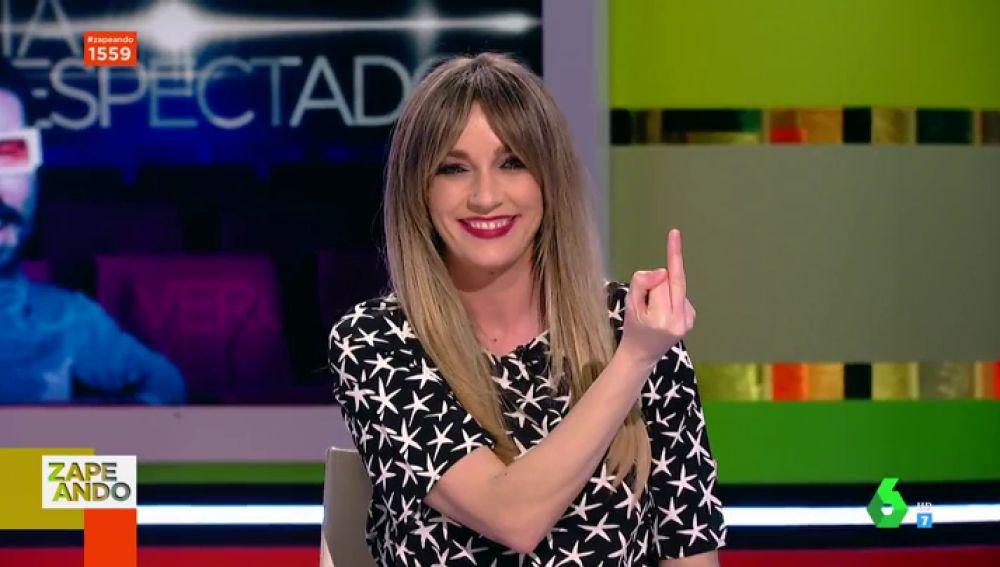 La peineta de Anna Simon a Santi Alverú que levanta la ovación de los zapeadores