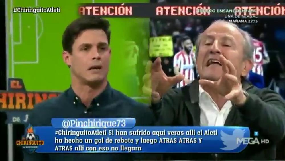 """Tenso cara a cara entre Edu Aguirre y Petón: """"El Liverpool va a pasar por encima del Atleti en Anfield"""""""