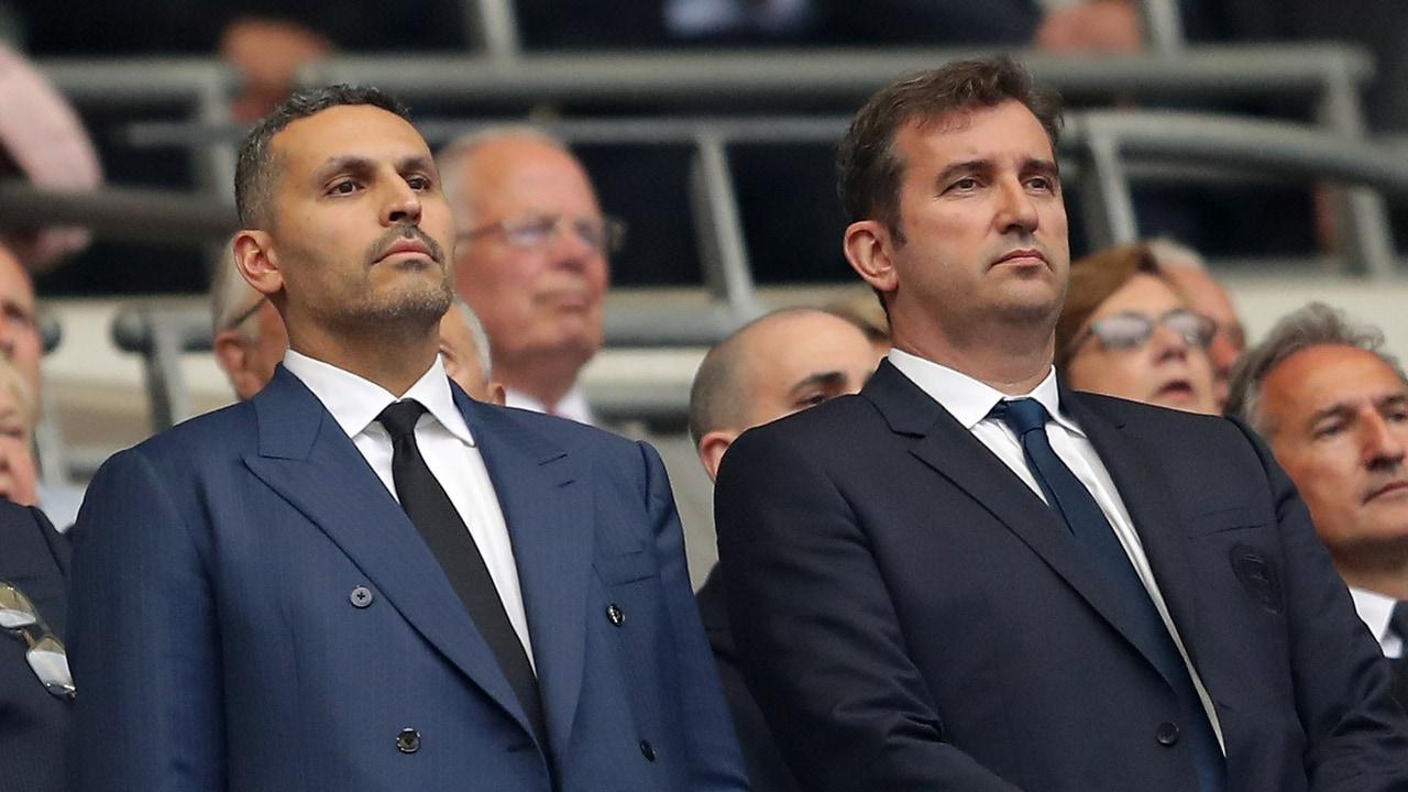Khaldoon Al Mubarak y Ferran Soriano.