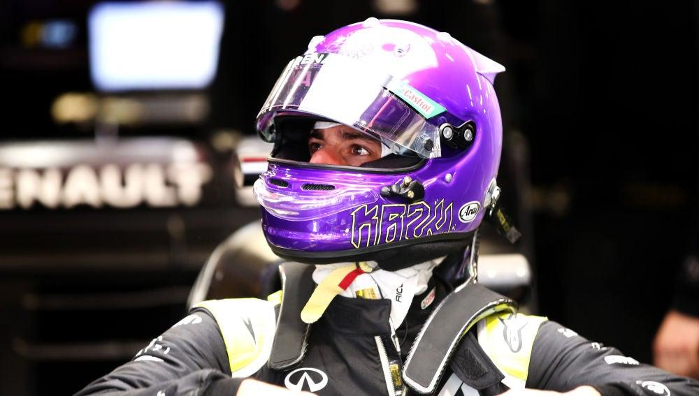 Daniel Ricciardo en los primeros test de la temporada
