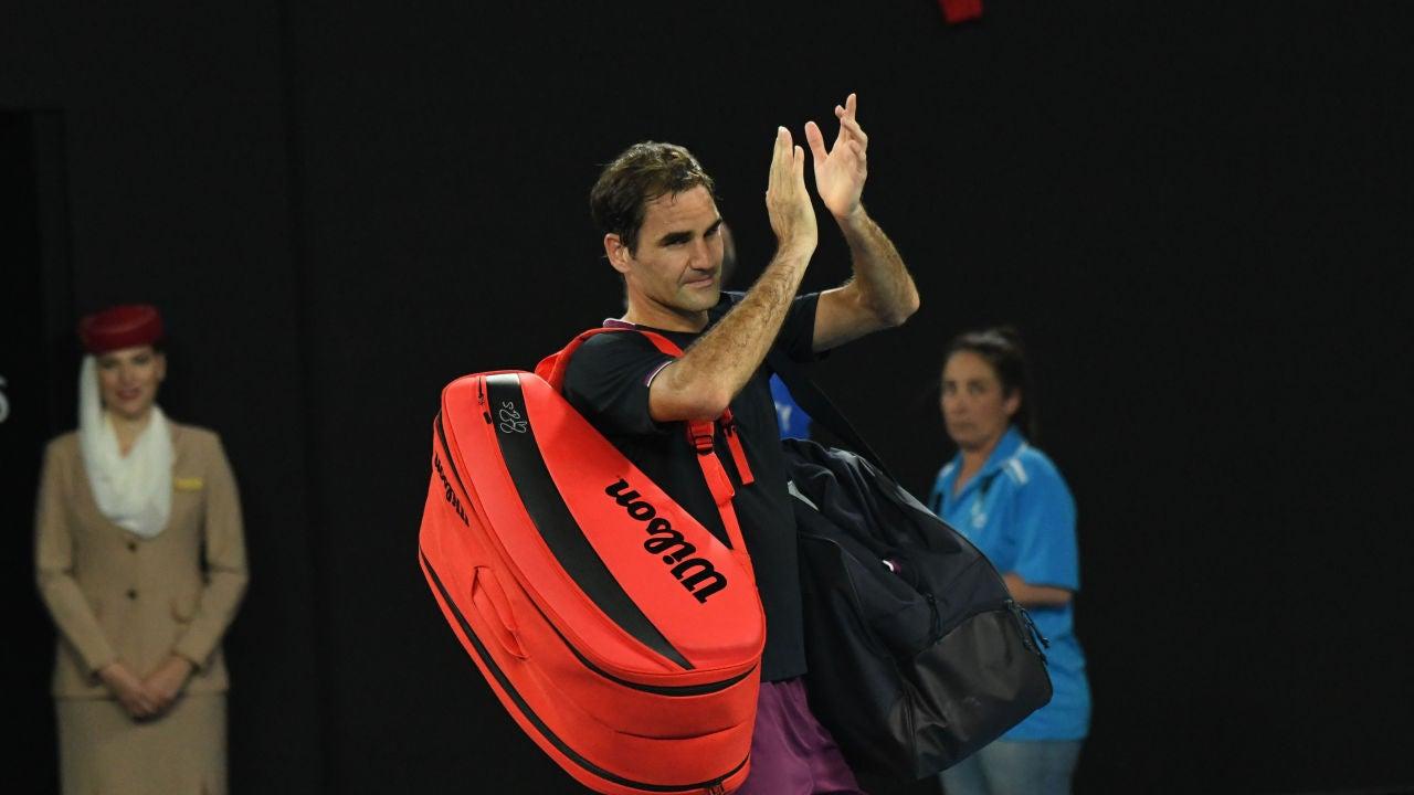 Roger Federer, tras un partido