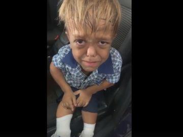 Imagen de Quaden en el vídeo compartido por su madre
