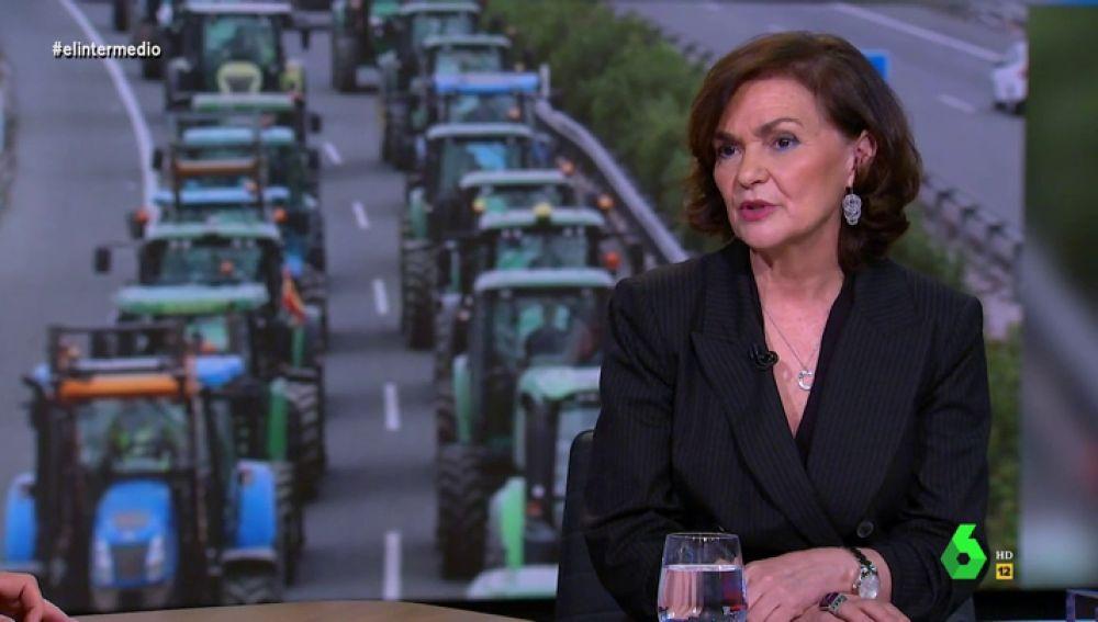 Calvo anuncia que el Consejo de Ministros estudiará la reforma de la ley de la cadena alimentaria como respuesta a las protestas del campo