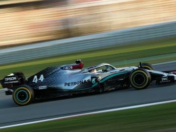 Lewis Hamilton en los test de pretemporada