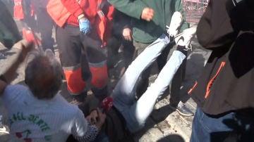 Reportero herido durante las protestas de los agricultores en Mérida