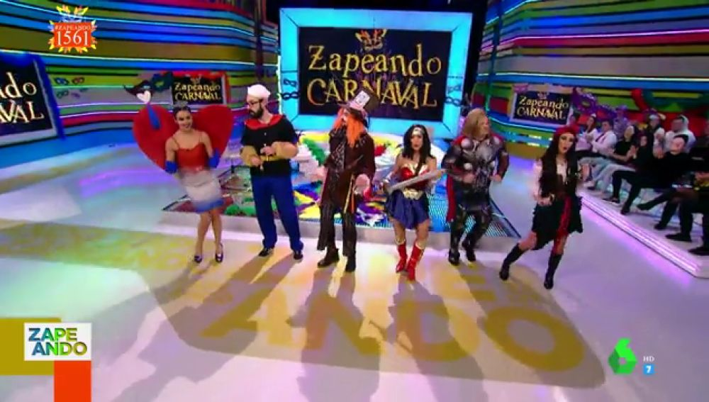 Lorena 'Wonder Woman', Anna 'Sparrow' o Quique 'Popeye': estos son los disfraces de los 'zapeadores' para carnaval