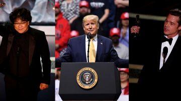 Bong Joon-ho, Donald Trump y Brad Pitt