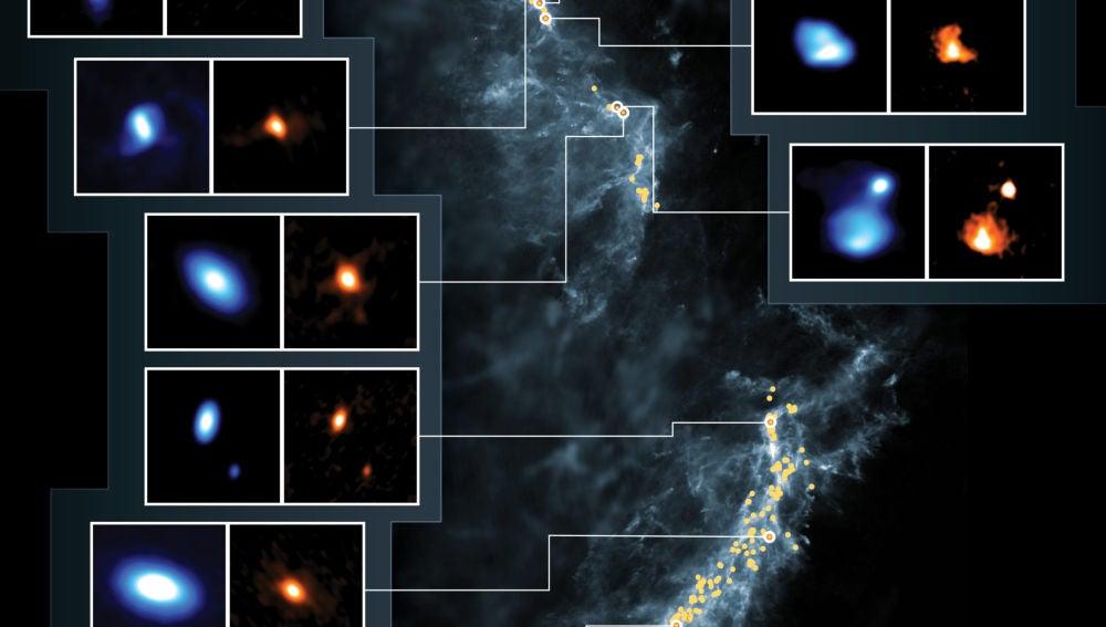 Mas de 300 discos protoplanetarios en las jovenes estrellas de Orion
