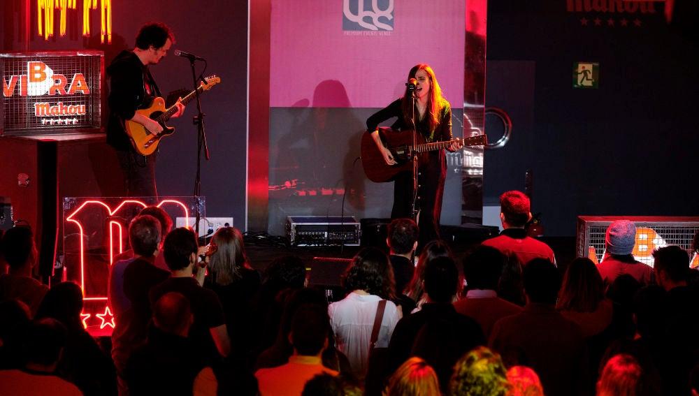 Zahara presentando la gira Vibra Mahou