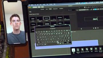 La app Hawkeye en acción con un iPhone