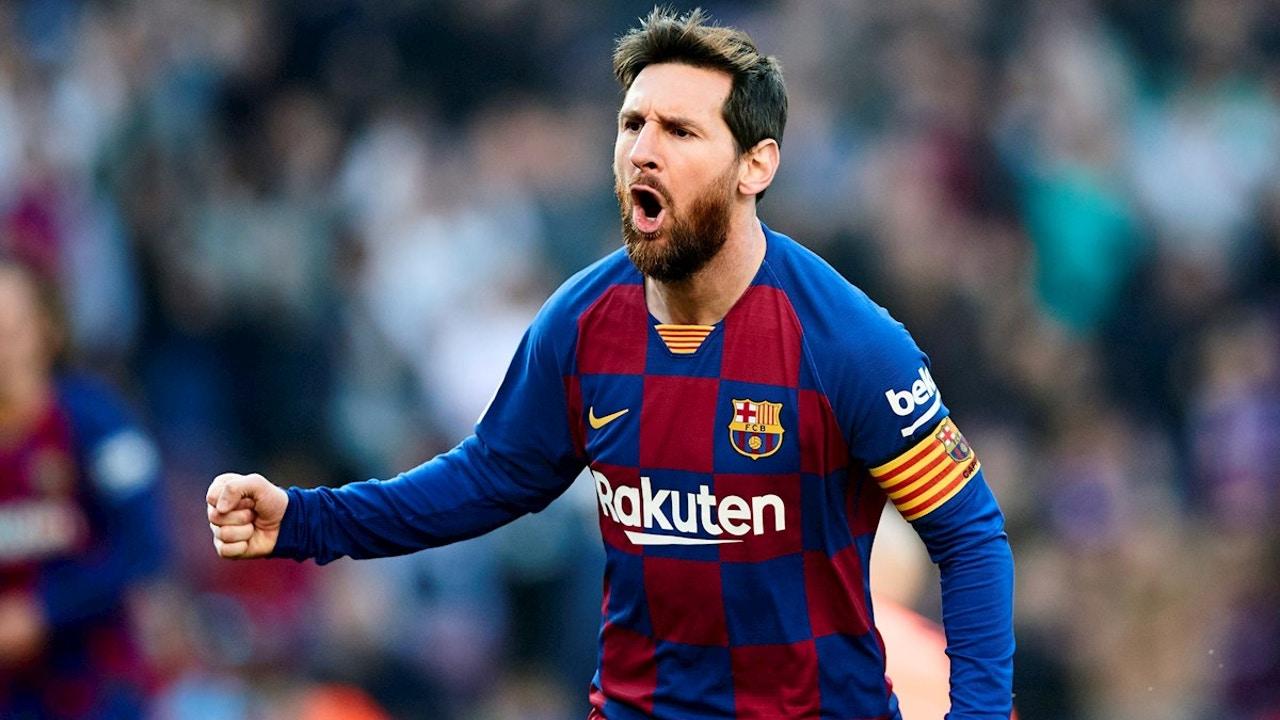 Leo Messi en un partido con el Barcelona