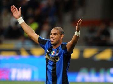 Adriano, con el Inter de Milán.