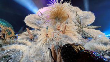 Minerva Hernández, reina del Carnaval de las Palmas de Gran Canaria