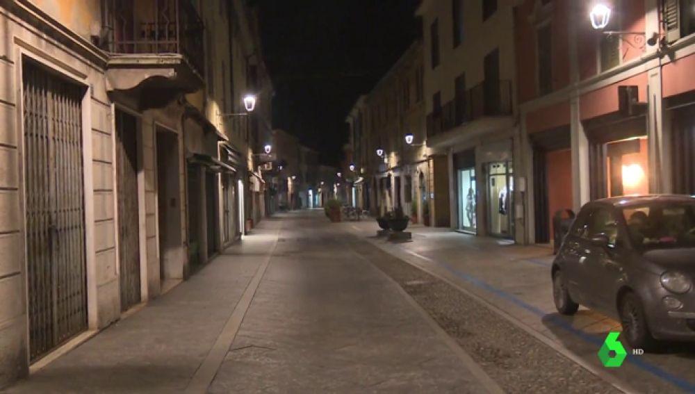 Imagen de calles vacías en Codogno