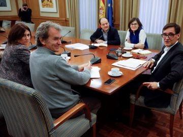 Imagen de la reunión del Comité de Seguimiento del Coronavirus