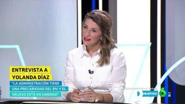 """Yolanda Díaz: """"Prometimos subir el salario mínimo a 1.200 euros de aquí a que acabe la legislatura, y se va a cumplir"""""""