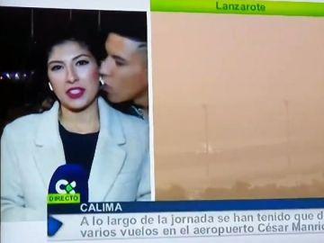 Imagen de la periodista que sufrió acoso machista en pleno directo en Canarias
