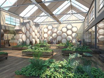 Imagen de las instalaciones donde se realizará el compost humano.
