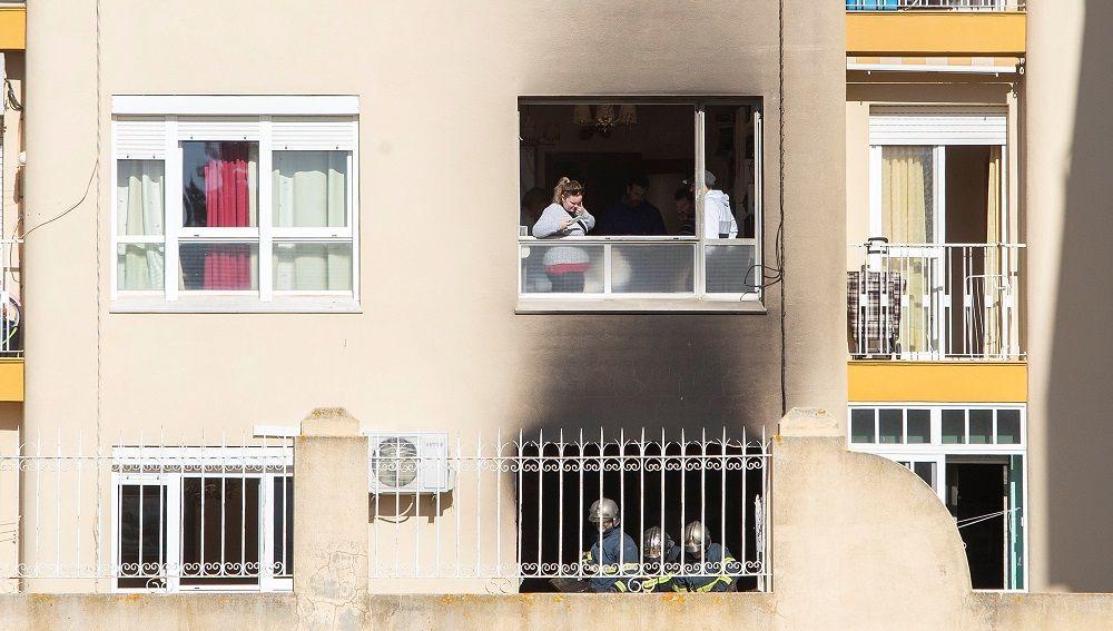 Imagen de la vivienda en la que ha fallecido un matrimonio por un incendio