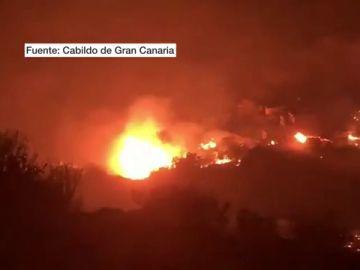 Un incendio en Gran Canaria quema varias viviendas y obliga a evacuar Tasartico