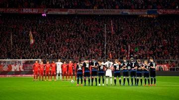 Minuto de silencio en el Allianz Arena