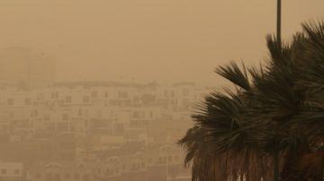Imagen de la calima en Canarias