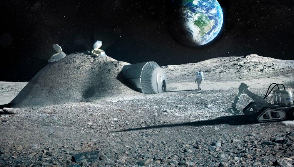 Orina de astronauta para construir bases lunares