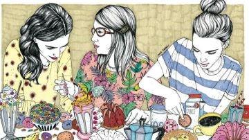 Ilustración de 'Amigas'